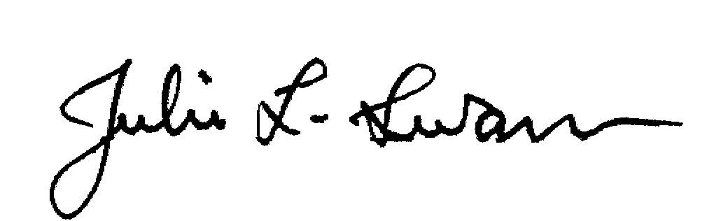 Julie L. Swann signature
