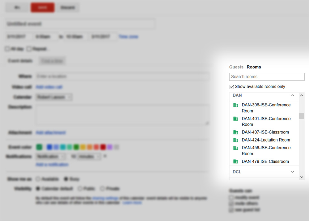 How to Add a Room to Your Google Calendar Event