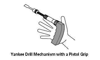 Hand Tools - Yankee Drill Mechanism with a Pistol Grip