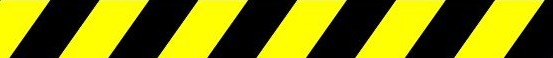 Yellow and black safety bar