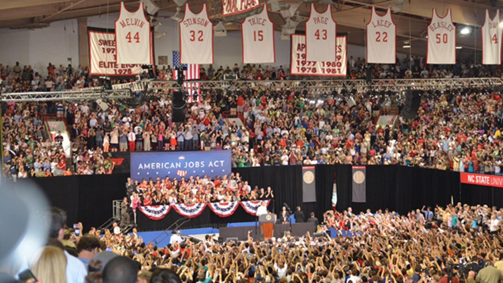 Obama Visits NC State