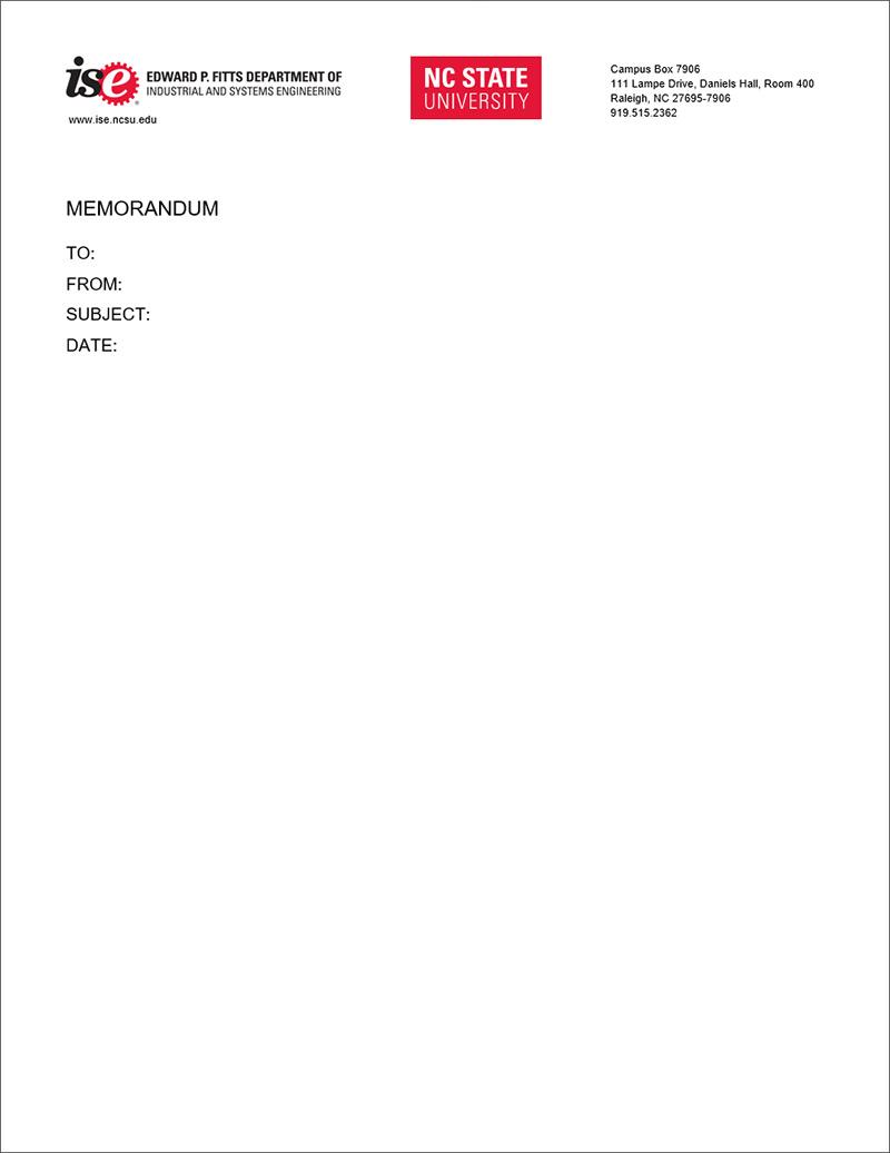 ISE Memorandum Template