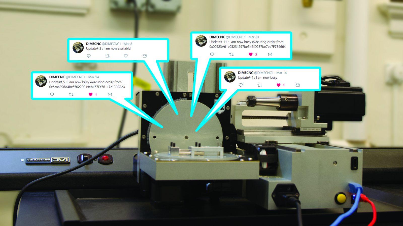 CNC Machine tweets to show its status