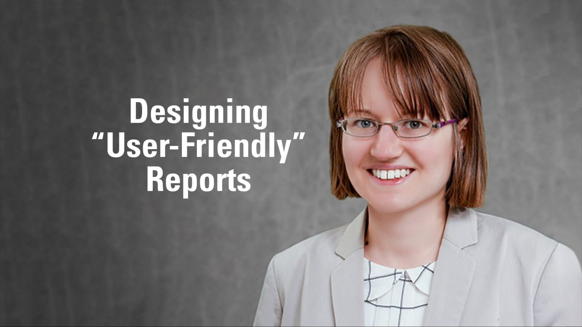 "Seminar Series | Katie Homar | Designing ""User-Friendly"" Reports"