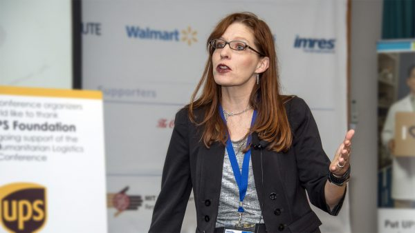 Julie Swann Presenting at a Conference