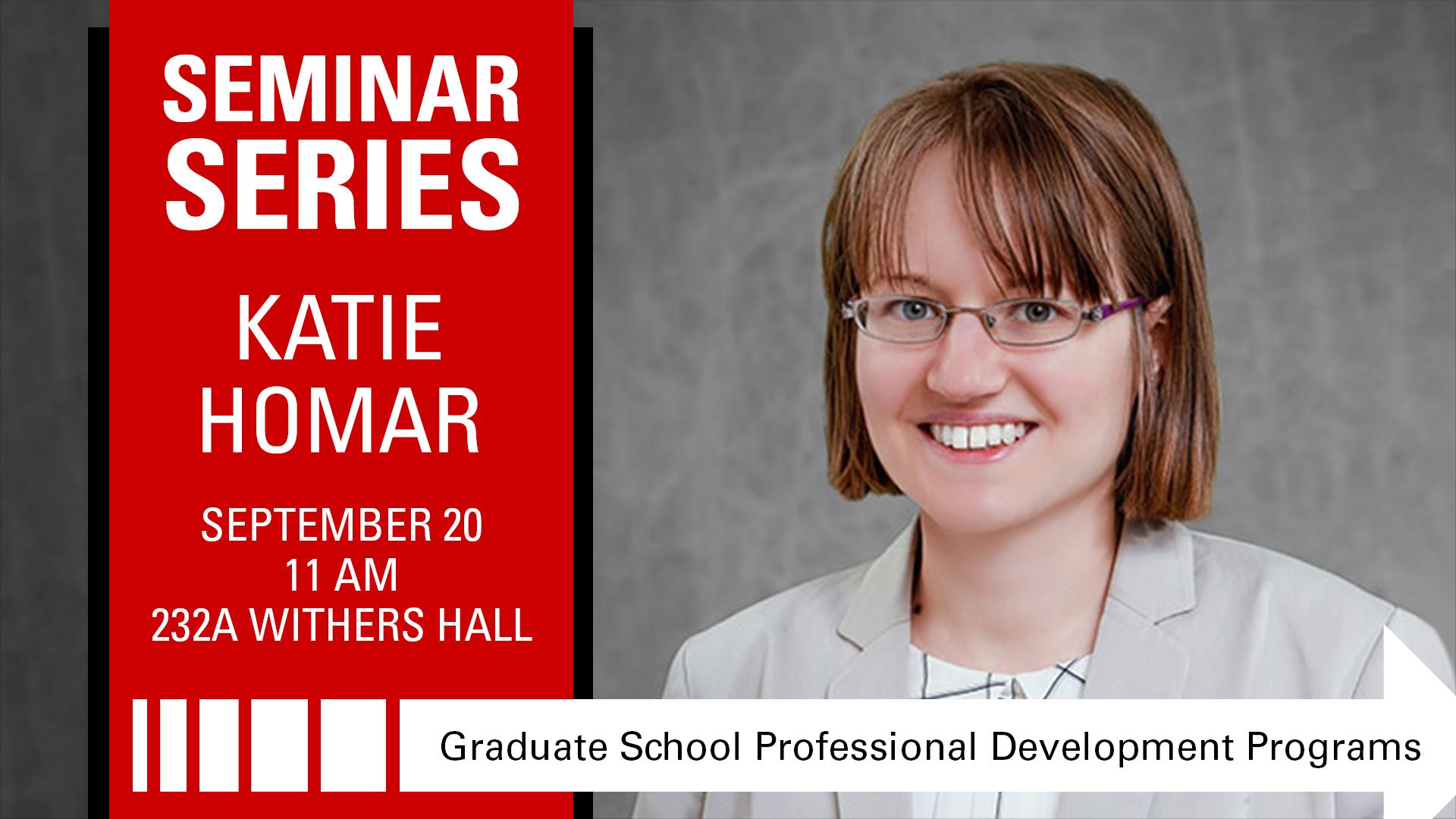 SEMINAR SERIES | Katie Homar | NC State Grad School