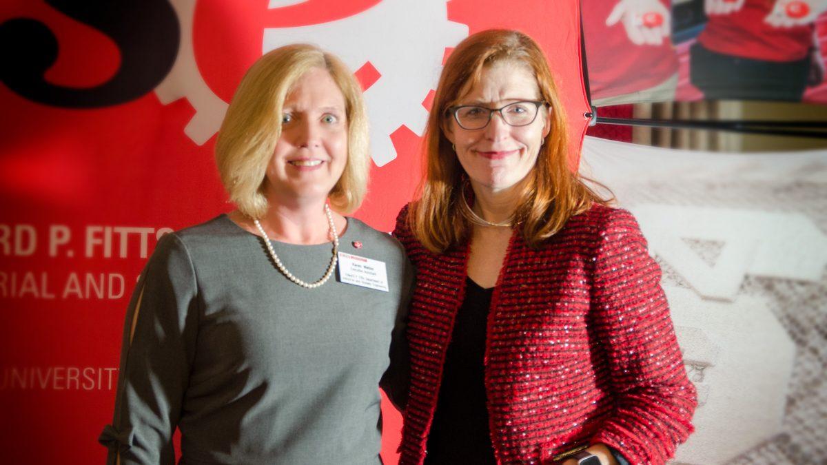 Executive Secretary Karen Welton and ISE Department Head Dr. Julie Swann