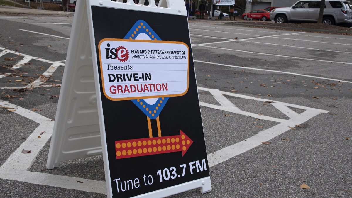 Fall 2020 Drive-In Graduation sign