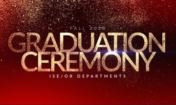 ISE Fall 2020 Graduation Ceremony