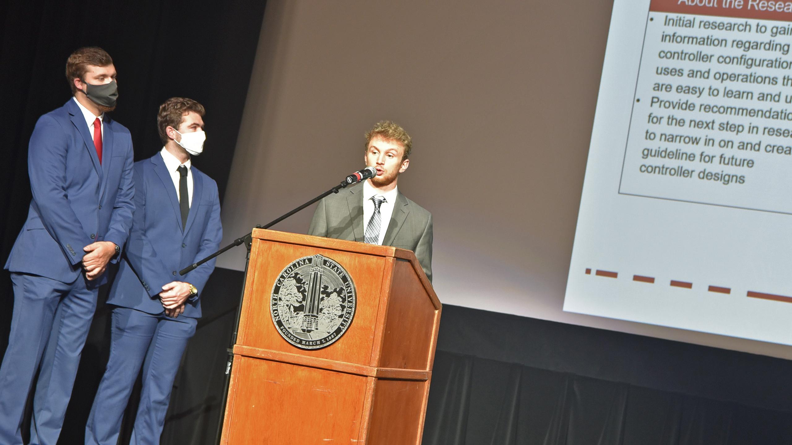 Team NIOSH B giving thier presentation.