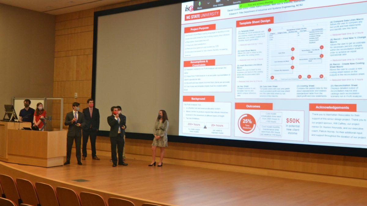 Team Manhattan Associates presenting their research