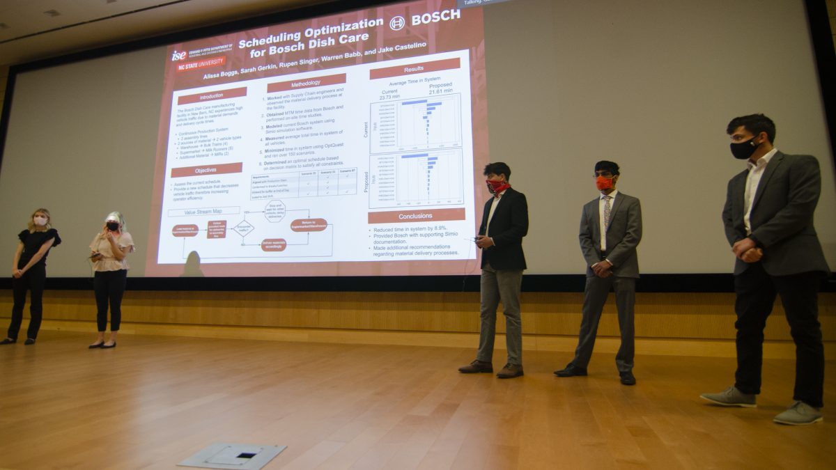 Team Bosch presenting their research