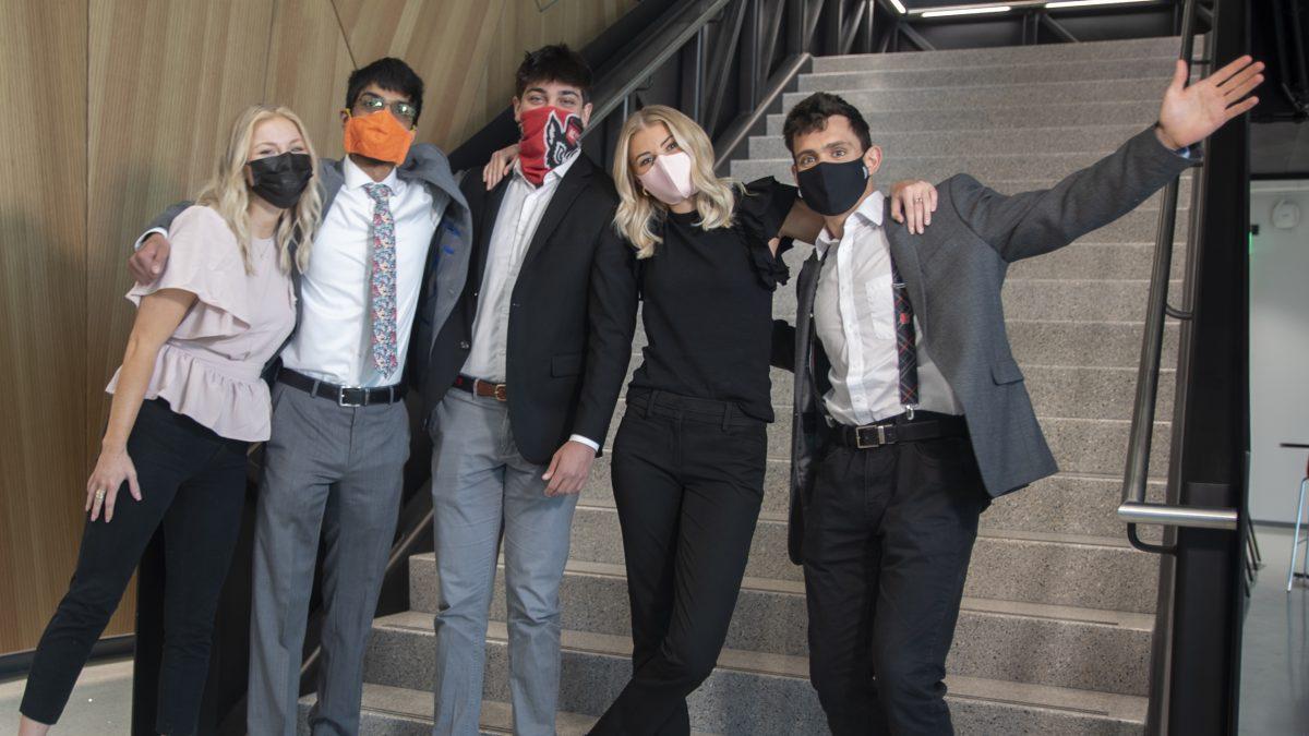 Team Bosch showing their Wolfpack pride