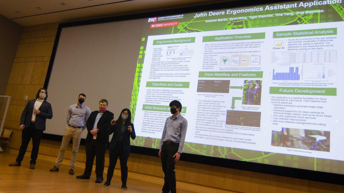 Team John Deere presenting their research