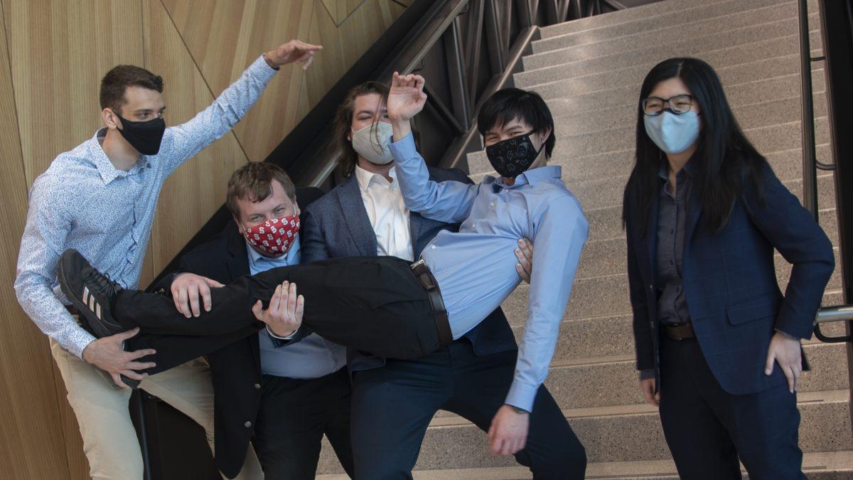 Team John Deere showing their Wolfpack pride