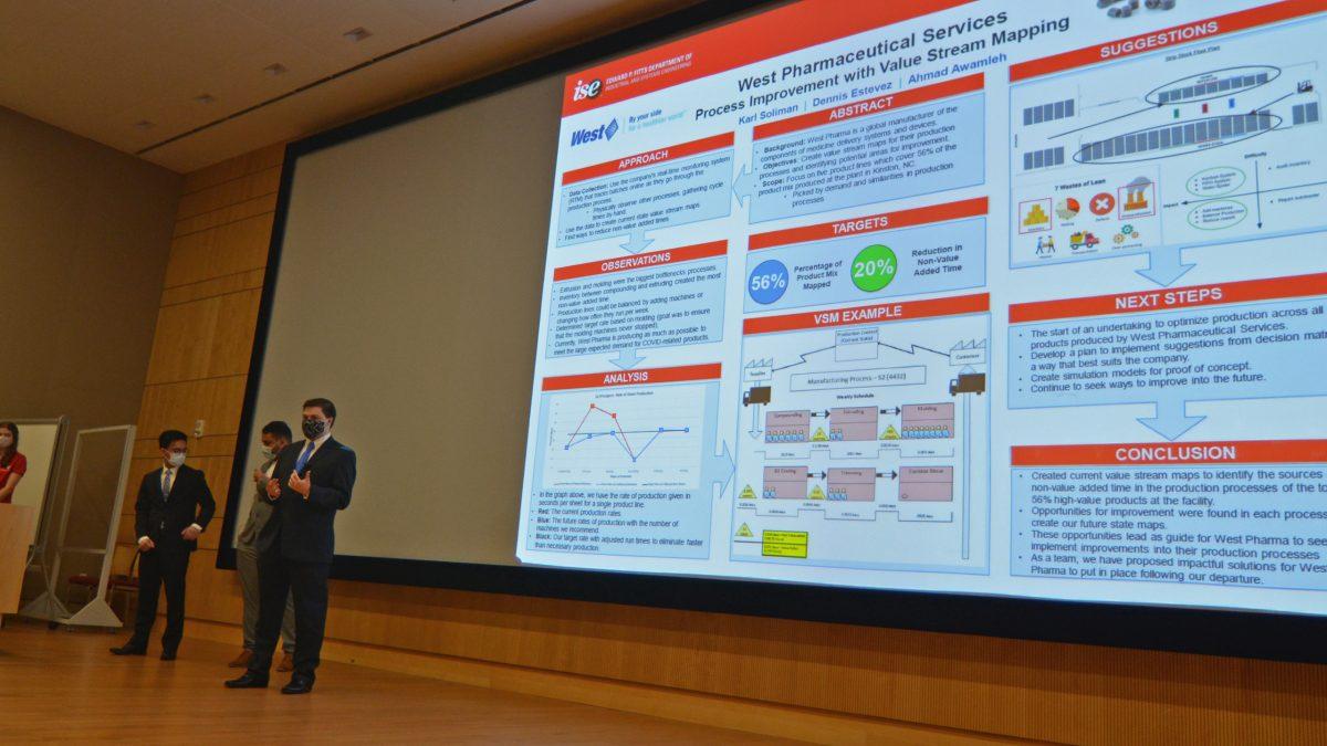 Team West Pharma presenting their research
