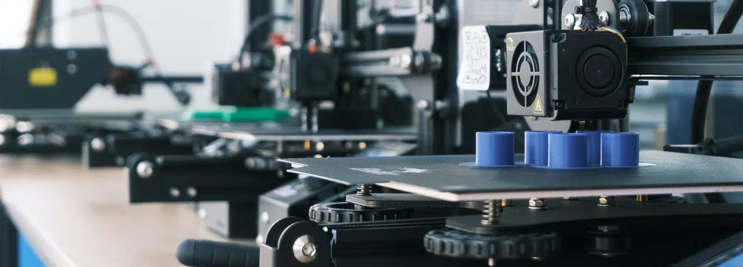 A 3D printer making spare parts in a laboratory